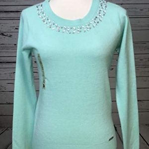 NWT US Polo Assn Green Gemstones Sweater Small